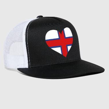 Faroe Islands Heart; Love Faroe Islands - Trucker Cap