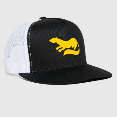 Ferret weasel Marten small rodent animal shape - Trucker Cap