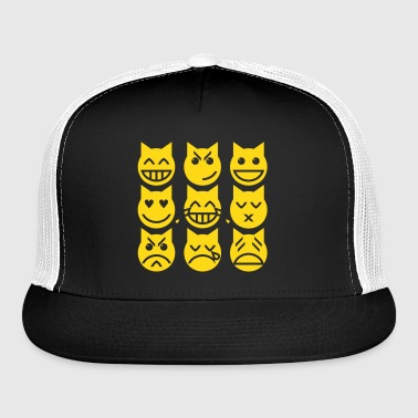 The 9 Lives of the Emoji Cat - Trucker Cap