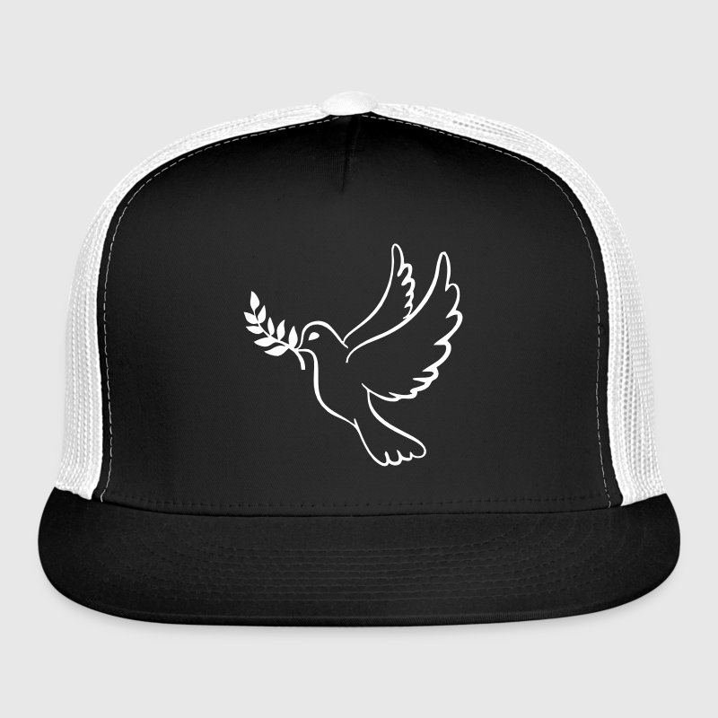 Peace Dove With Olive Branch - Trucker Cap