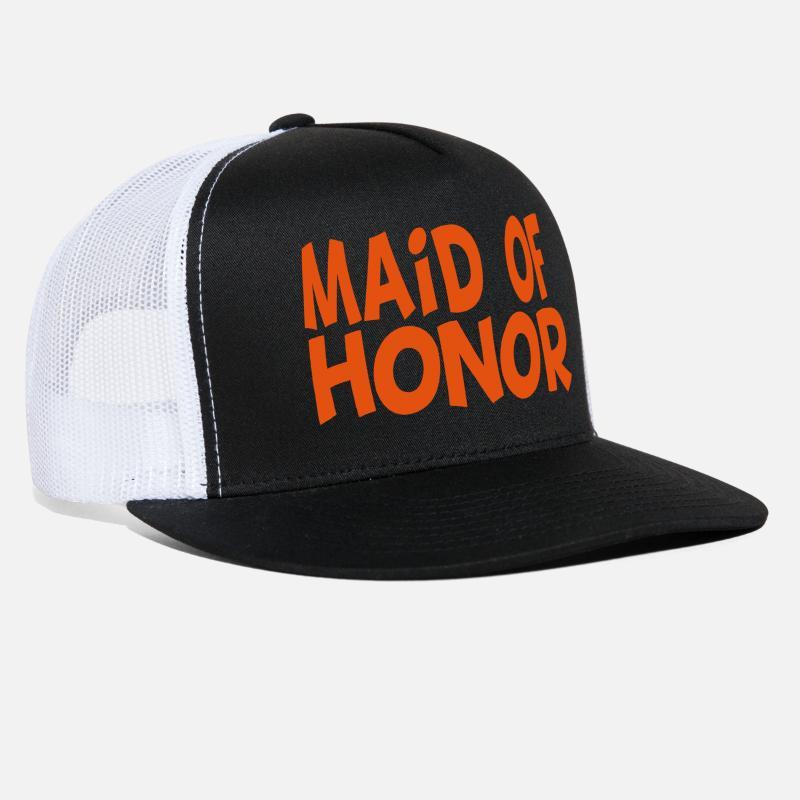 Bachelor Party Caps - Maid of Honor Design - Trucker Cap black white 2da263c2a34