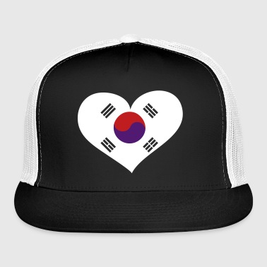 South Korea Heart; Love South Korea - Trucker Cap