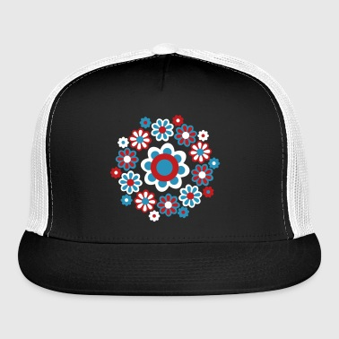Floral Mandala by Cheerful Madness!! - Trucker Cap