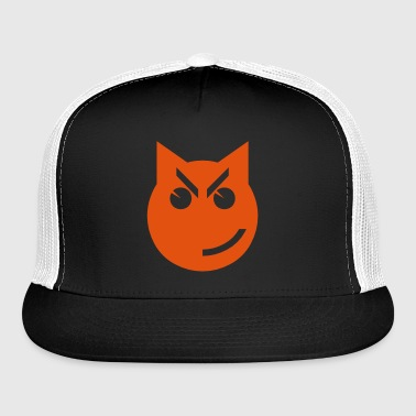 Smirking Emoji Cat - Trucker Cap