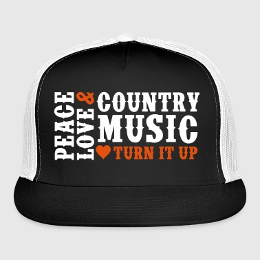 PEACE LOVE COUNTRY MUSIC - Trucker Cap