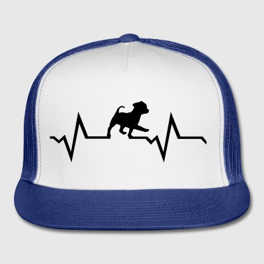 dog, puppy & heartbeat - Trucker Cap