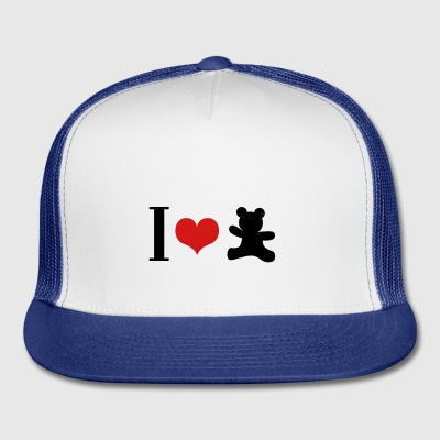 I love Teddy - Trucker Cap