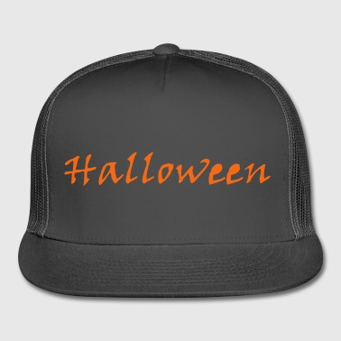Black Simply Halloween - Trucker Cap