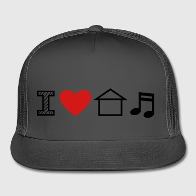 I Love House Music - Trucker Cap