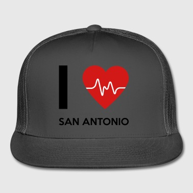I Love San Antonio - Trucker Cap