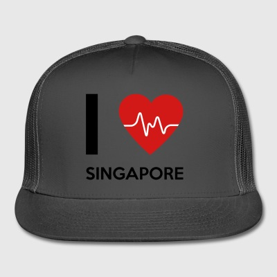 I Love Singapore - Trucker Cap