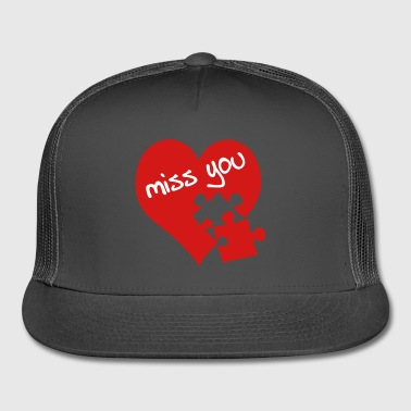miss you / red heart - Trucker Cap
