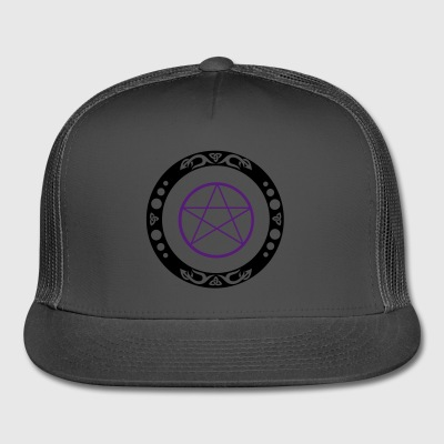 Big pentagram with trinity symbol. - Trucker Cap