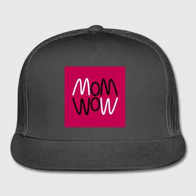 Curvy mom wow graphic - Trucker Cap