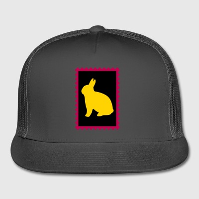 stamp with bunny - Trucker Cap