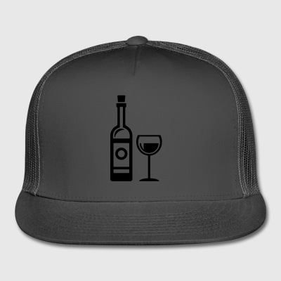 wine bottle - glass - Trucker Cap