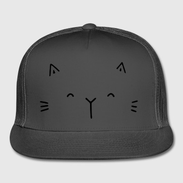 cute cat face gift idea for cat friends - Trucker Cap