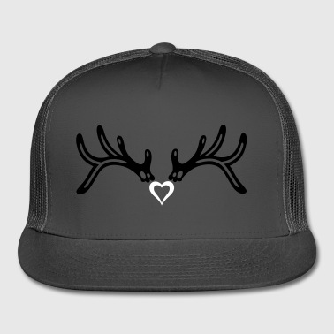 Reindeer antler with heart, girlie style. - Trucker Cap