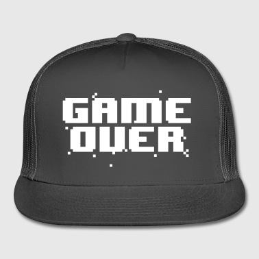 Game Over Pixel Text - Trucker Cap