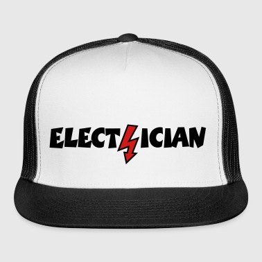 Electrician with a Lightning (Vector) - Trucker Cap