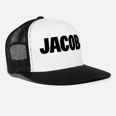 Jacob ❤✦Jacob-Best Top Male Name Jacob Vector Design✦❤ - Trucker Cap