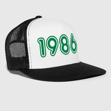 1986, Numbers, Year, Year Of Birth - Trucker Cap