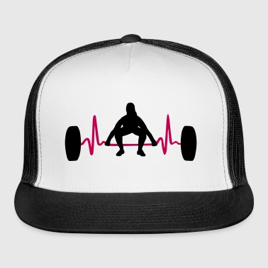 Weightlifting Woman & Heartbeat - Trucker Cap