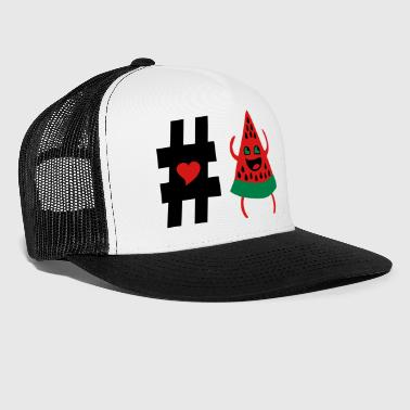 ❤Follow #Watermelon-Best Hot Summer Fruits❤ - Trucker Cap