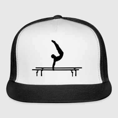 Men's Gymastics, Gymnast doing parallel bars - Trucker Cap
