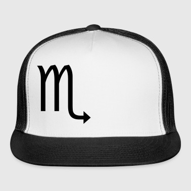 Scorpio Zodiac sign and horoscope symbol - Trucker Cap