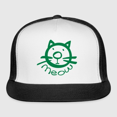 meow kitty cat pet - Trucker Cap