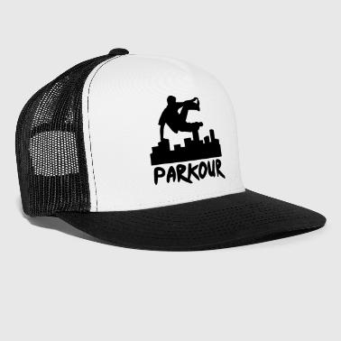 Free running in the city, parkour - Trucker Cap