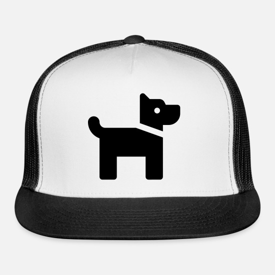 Dog Owner Caps - Doggy - Trucker Cap white/black