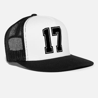 Jersey Number Number, 17, Jersey, Sports, Varsity - Trucker Cap