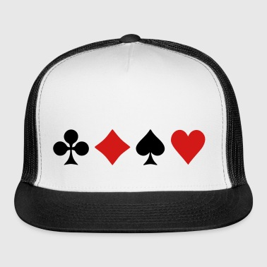 Playing Card Suits - Trucker Cap