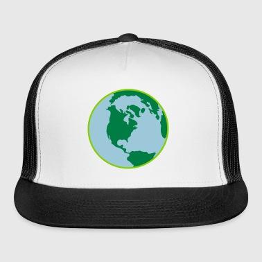 Earth Day World 3 Color Vector - Trucker Cap