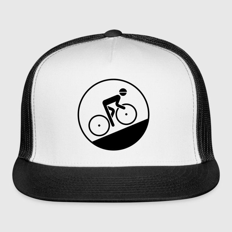 Cyclist Bicyclist Biker (Racing Bicycle / Uphill) - Trucker Cap