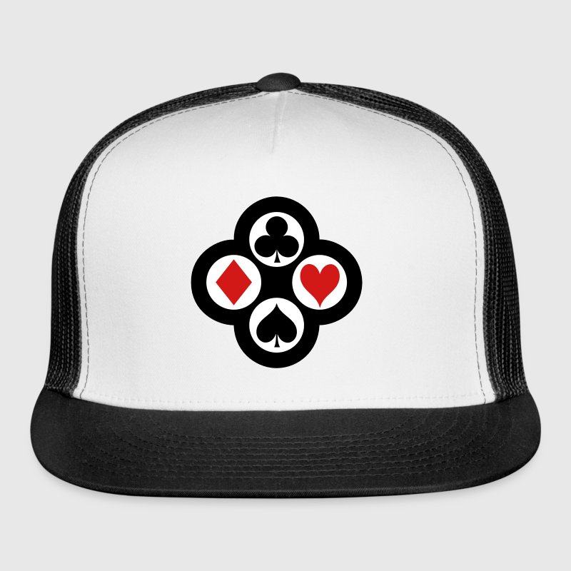 Poker Suits Circle Vector - Trucker Cap