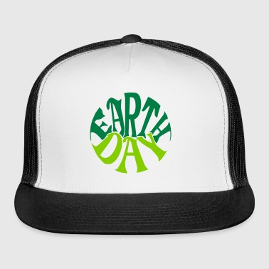 Earth Day Groovy, 2 Color Vector - Trucker Cap