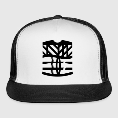 an abstract graphic tattoo - Trucker Cap
