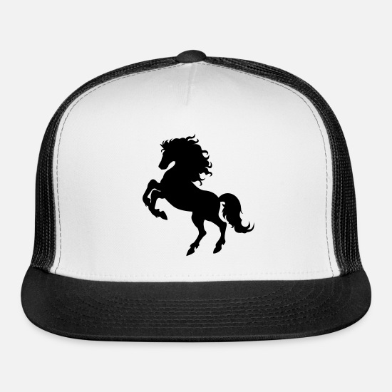 Horse Caps - Horse - Trucker Cap white/black