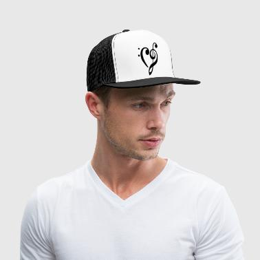 heart - clef - Trucker Cap