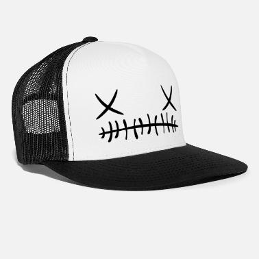 Halloween Cross stitch Face Cap (Glow In The Dark) - Trucker Cap