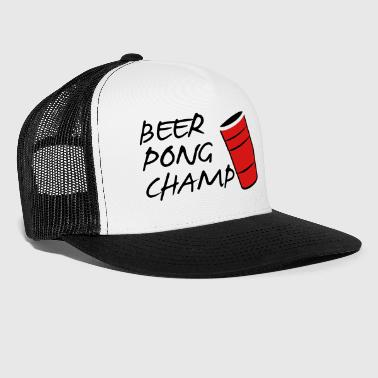 Beer Pong Champ 3 Color Vector - Trucker Cap