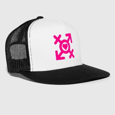 Love United Gender Symbol (2c) - Trucker Cap