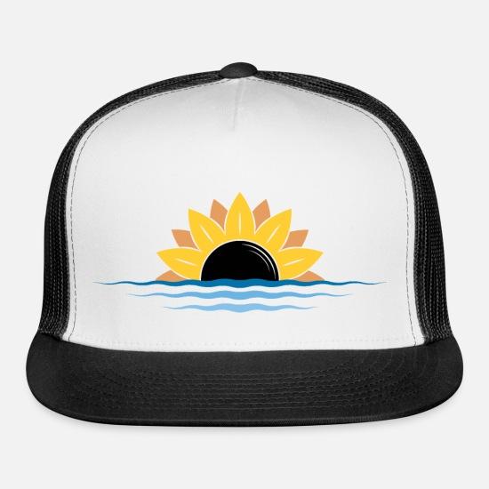 a0198a8d6 Sunflower Beach Sunset Design Trucker Cap | Spreadshirt