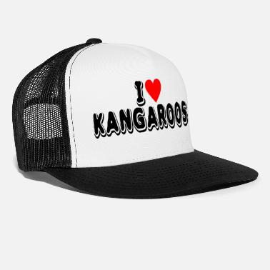 Used Kangaroo Lover Product I Love Gifts For Animal - Trucker Cap