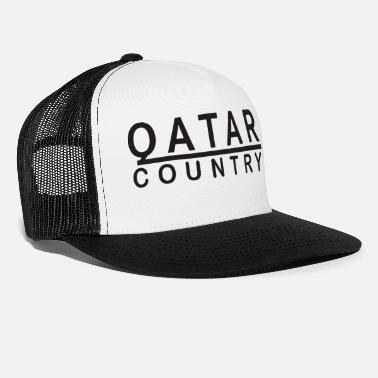 Country Qatar Country Black - Trucker Cap