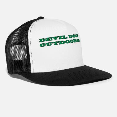 Devil Dog Outdoors (Lettering, Green) - Trucker Cap