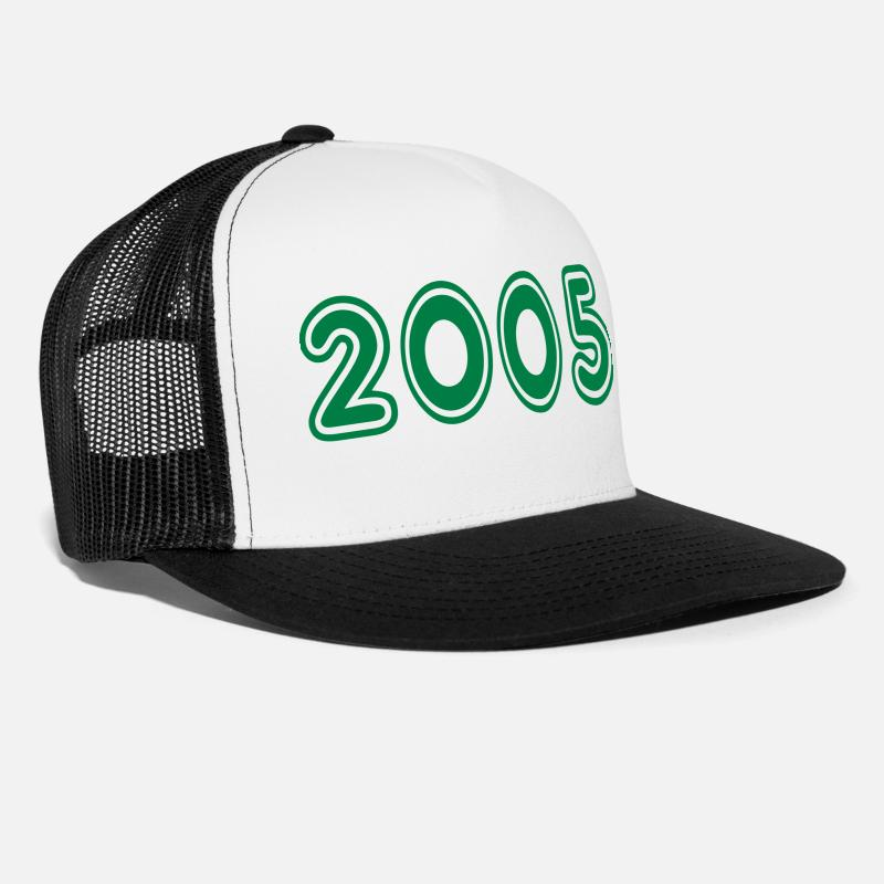 2005 Caps - 2005, Numbers, Year, Year Of Birth - Trucker Cap white/black